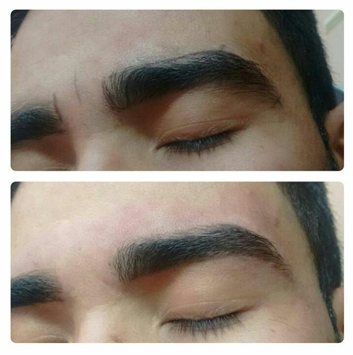 design de sobrancelhas masculino homem
